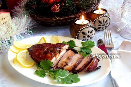 Копчёное куриное филе по-домашнему