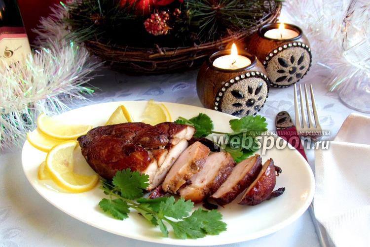 Фото Копчёное куриное филе по-домашнему
