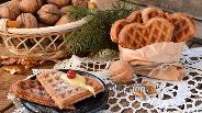 Фото рецепта Ореховые вафли