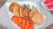 Фото рецепта Котлеты из крабовых палочек с сыром