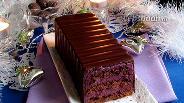 Фото рецепта Торт в шоколаде с черничным муссом