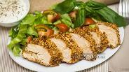 Фото рецепта Куриные грудки в арахисовой панировке