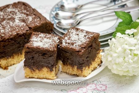 Шоколадно-кокосовый брауниз