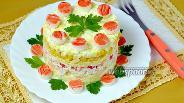 Фото рецепта Салат с крабовыми палочками и ананасом