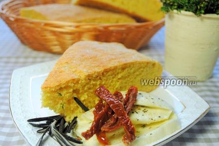 Кукурузный хлеб с зелёным луком