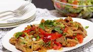 Фото рецепта Жареная свинина с овощами