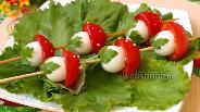 Фото рецепта Закуска на шпажках «Мухоморы»