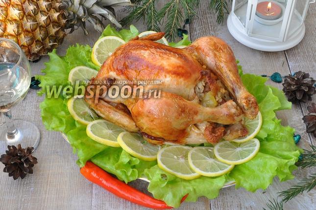 Рецепт Курица в шампанском с ананасами