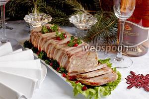 Новогодний мясной террин