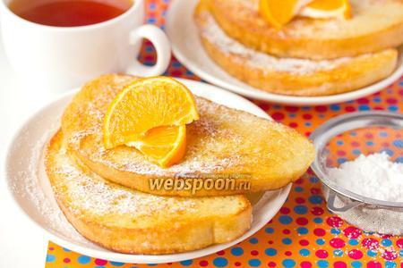 Сладкие десертные гренки