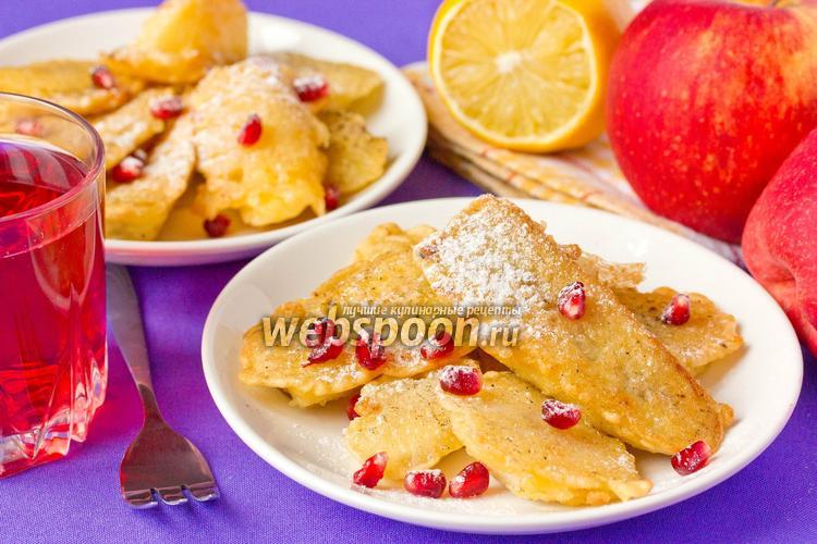 Фото Десерт из фруктов, обжаренных в кляре