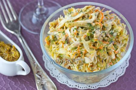 Салат с копчёной курицей и лавашом