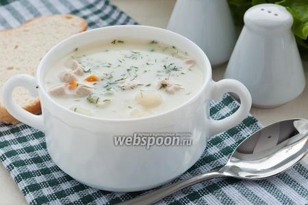 Суп из куриного филе с плавленым сырком