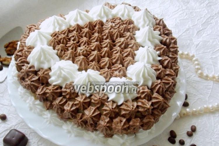 Фото Ореховый торт с кофейным кремом
