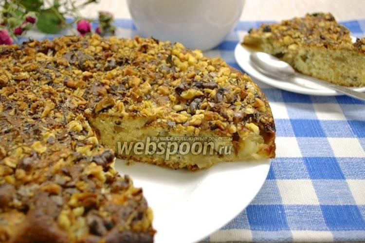 Фото Яблочный пирог с мёдом, орехами и маком