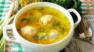 Фото рецепта Суп с сырными кнелями