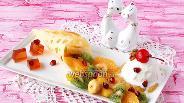Фото рецепта Фруктовый салат с мороженым и желе из глинтвейна