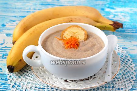Молочный суп с бананами