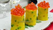 Фото рецепта Блины с зелёным луком и куркумой