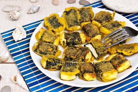 Фото рецепта Жареный сыр в нори