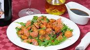 Фото рецепта Салат с рукколой, курицей и грейпфрутом