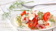 Фото рецепта Салат из яблок и помидоров