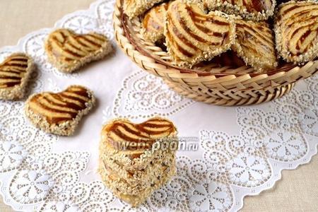 Кунжутное печенье со сгущёнкой