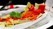 Фото рецепта Судак с овощами на пару