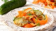 Фото рецепта Салат «Фитнес» с огурцом и морковью