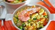 Фото рецепта Кускус с овощами и креветками