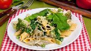 Фото рецепта Паста со шпинатом, брокколи и зелёным горошком
