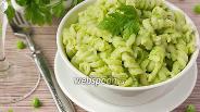 Фото рецепта Фузилли с зелёным овощным соусом