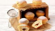 Фото рецепта Сметанные булочки с повидлом
