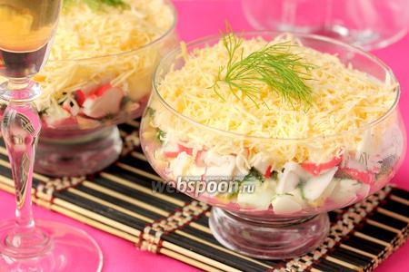 Салат-коктейль с крабовыми палочками «Гера»