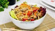 Фото рецепта Фунчоза с грибами и овощами