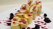 Фото рецепта Блинчики с фруктовой начинкой