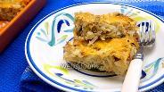 Фото рецепта Запеканка из капусты с перловкой и грибами