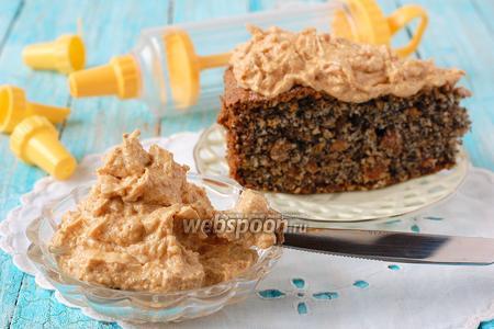 Масляно-карамельный крем с арахисовым грильяжем