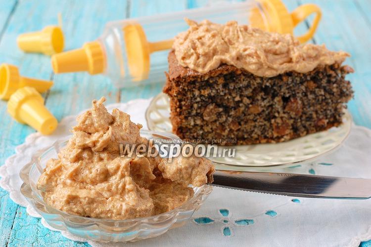 Фото Масляно-карамельный крем с арахисовым грильяжем