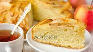 Фото рецепта Яблочный пирог со сливочной заливкой