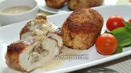 Фото рецепта Зразы из куриного фарша с грибами