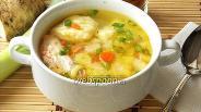 Фото рецепта Суп с форелью и картофельными клёцками по итальянски