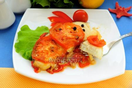 Акула запечённая с овощами