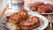 Фото рецепта Стейк из свинины со сливовым соусом