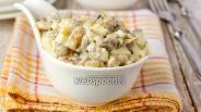Фото рецепта Салат с шампиньонами, куриными желудочками и яйцами