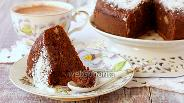 Фото рецепта Шоколадно-банановый пирог