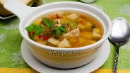 Фото рецепта Суп из сухого зелёного горошка с сельдереем