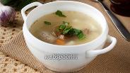 Фото рецепта Суп из куриных потрошков с пшеном