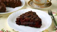 Фото рецепта Шоколадный манник с халвой