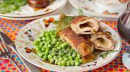 Фото рецепта Рулетики из свинины с сырной начинкой